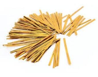 Pack of 50 gold twist ties