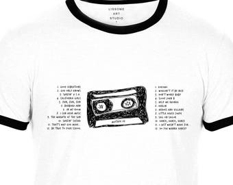 Mixtape T-Shirt THE BEACH BOYS by Lissome Art Studio