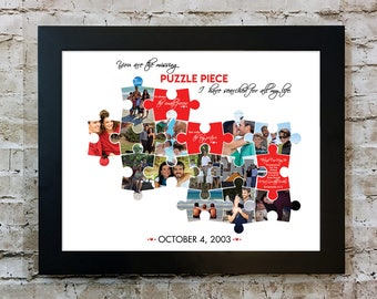 You Are The Missing Puzzle Piece Photo Collage Artwork
