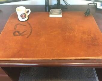 Full grain leather desk pad/desk cover/blotter/desk mat