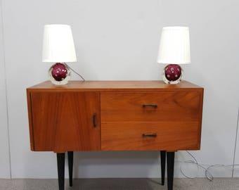 PAIR MID CENTURY - Murano - table lamps - Vetro Toso - Hollywood Regency - 60's