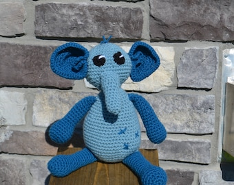 Elephant, Crochet Amigurumi, Stuffed Animal