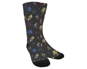 Chrono Trigger Socks - Knee High Socks Video Game Socks Cosplay Socks Comicon Socks Videogame Socks 8-bit Socks pixel Socks Marle Socks