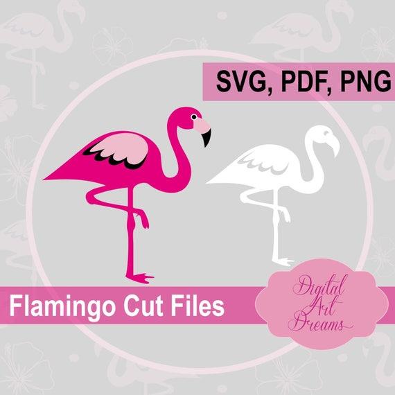 Download Flamingo SVG Cut Pink Flamingo PDF Cuttable Design Bird