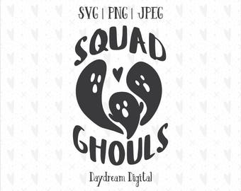 Squad Ghouls SVG | Spooky | Halloween | Ghosts | Scary | Clip Art | SVG Cutting Files