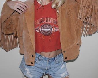 Vintage 80s Fringe Jacket