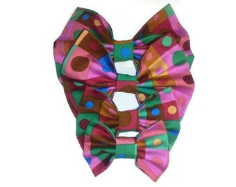 pink green bow tie , for dog , for cat , for owner , pet birthday gift ideas , matching clothes
