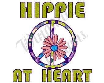 Hippie Peace Sign - Machine Embroidery Design