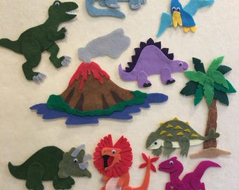 Dinosaur Felt Board Set, Dinosaur, Dinosaur Story Board for Pretend or Imaginative Play,  PDF PATTERN ONLY