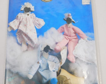 """Doll Nightshirt Nightgown Sleeper Sewing Pattern for 14"""" Storybook Lamb, Wynken Blyhken and Nod, Wimpole Street Creations"""