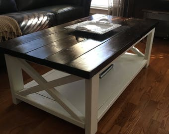 Farmhouse Rustic X Coffee Table ATLANTA ONLY