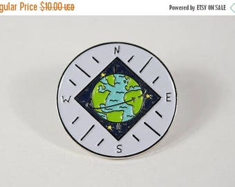 ON SALE World Compass Pin