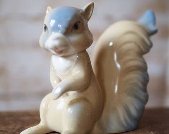 Retro Porcelain Squirrel Ornament