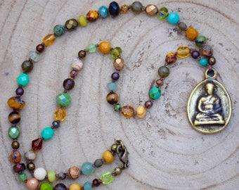 Buddha Beaded Boho Necklace