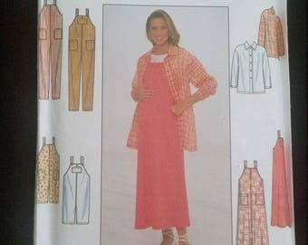 Simplicity Maternity Pattern 8011 Shirt/Jacket  Jumper & Overall