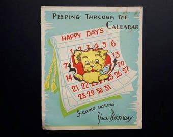 Blank Vintage Birthday Card Puppy