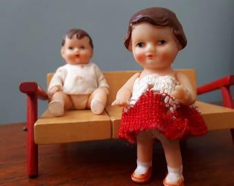 Vintage ARI Dolls Boy and Girl