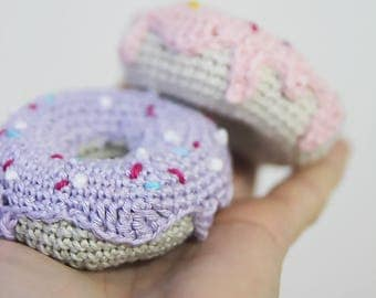 Crochet donut, crochet playfood