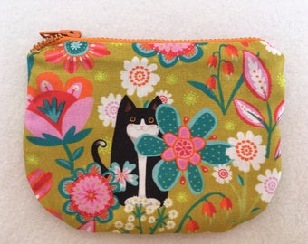 Purse and CB.  Black Cat. Funny cat with psychedelic flowers