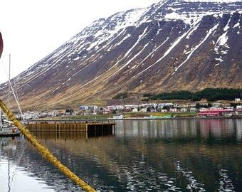 "Fine Art Iceland Landscape Photography Wall Decor 4""x6"" prints | Isafjordur Fishing Village West Fjords Iceland"