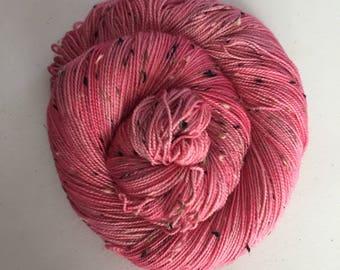Cotton Candy – Full Skein on Mutini Tweed – 438yds/100g – 85/15 SW Merino/NEP
