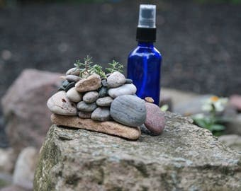 Natural Stone Succulent Planter
