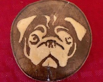 Pug Coasters - set of 4