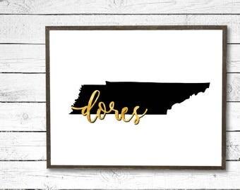 Vandy Vanderbilt University Dores Tennessee Gold/Black Printable Download - College/University/Dorm Decor, Wall Art Sign