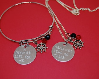Pirate Dead Men Tell No Tales Bangle or Necklace