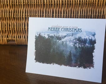 Merry Christmas Rustic Holiday Card