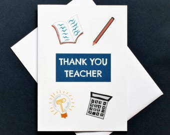 Thank you teacher,  best teacher, thank you teacher, school card, teacher card, end of year card