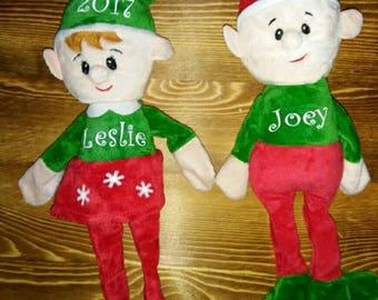 2017 Christmas plush elf