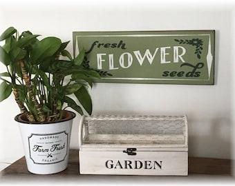 Fresh Flower Seeds wood sign farmhouse style