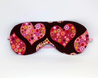 Sugar Hearts Sleep Mask - Eye Mask - Blindfold