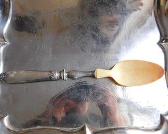 Louis XV decor filled silver salad spoon