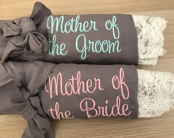 Mother of the bride gift, mother of the groom gift, bridesmaid gift, bridal party gifts, wedding robes , bridesmaid robes, gift for mom