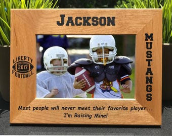 Football // Personalized Engraved Photo Frame // Picture Frame // Gift