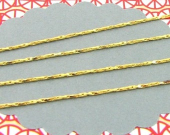 1m golden snake-like 0,6mm chain, chain for bracelets and necklaces, chain for beads, CHD02