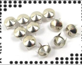 50 PCs silver 10 mm CL04 cones