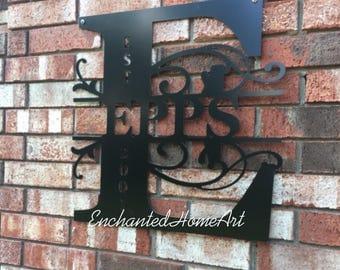 Metal name sign | Etsy