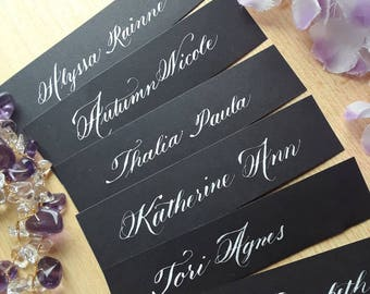 Handwritten Calligraphy with Placecards Only