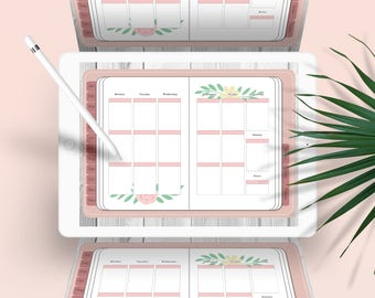 Pink Floral Digital Planner for Goodnotes - iPad & iPhone