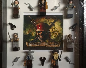 Pirates of the Caribbean minifigure frame.