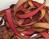 """1PC. HORIZON 42"""" hand dyed wrist wrap bracelet silk ribbon//Yoga wrist wrap bracelet ribbons//Hand dyed Boho Silk wrist wrap ribbon"""