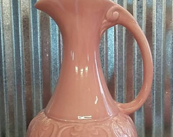 Vintage Red Wing Pitcher-Pink Red Wing Pitcher-Vintage Red Wing Artware Pitcher-Red Wing Pottery Pitcher-Red Wing Pitcher #921