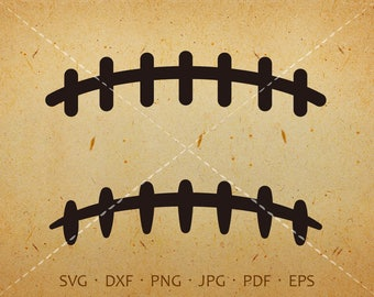 Football Laces SVG, Football Clipart Silhouette Cricut Cut Files  (svg, dxf, eps, png, jpg, pdf)