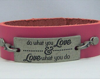 B358, Leather Cuff Bracelet