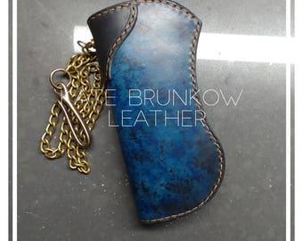 Mens wallet , chain wallet , wallet , long wallet , blue wallet , card wallet , biker wallet , chain , wallet chain , hand made