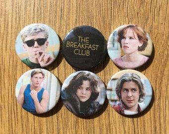 The Breakfast Club set of 6 badges