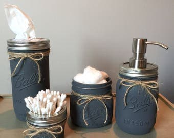 Shabby chic mason jar accessories